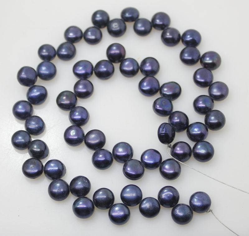 button black blue pearl loose gem stone strand 8mm 15'' jewellery DIY