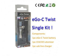 Factory Seupply Ego Twist Kit de una sola pieza Blister Kits Ego Twist E-Cigarette 650mah