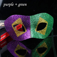 2015 Couleur Contraste Masquerade Boules Masque Ball Masques Sexy Lady Party Supplies Unisexe 10pcs / lot MA15