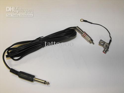 Fourniture de tatouage RCA Clip Cord pour Tattoo Power Supply machine avec un cadeau gratuit RCA adaptateur phono plug convertisseur jack 1/4