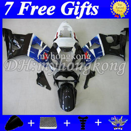 Wholesale Gsxr New Fairings - 7 Free gifts blue fits K3 SUZUKI ! GSX-R1000 03-04 GSX R1000 2003 2004 blak whtie GSXR 1000 620 GSXR1000 K3 03 04 NEW HOT Full Fairing