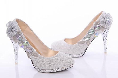 deffee44 Compre En Stock Plateado Zapatos De Boda Tamaño 34 39 De 10 Cm De Tacones  Altos Con Seuqins / Cristales / Bordado Para Vestidos / Noche De La Boda /  Baile ...