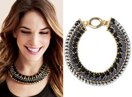 Wholesale Stella Necklace - 2013 New Statement Chain Stella Stempet Woven Choker Necklace Celebrity Fave