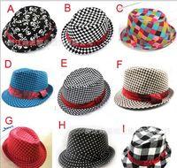 Wholesale Dandys Hats Caps - Baby kids children's Caps accessories hat boys grils hats fedora hat mixed color ,10pcs lot,dandys