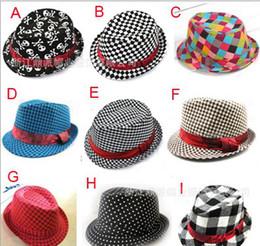Wholesale Baby Boy Brim Hats - Baby kids children's Caps accessories hat boys grils hats fedora hat mixed color ,10pcs lot,dandys