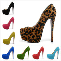 Wholesale Chunky Heel Platform Pump Design - New 2016 Sexy women 16cm Pumps various style thick bottom high heels design famous platform pumps dress wedding shoes Free shipping