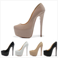 Wholesale Sexy Shoes Glitter - Fashion new 2016 Women's Sexy Platform Pumps 16cm High wedding shoes with Thin Heels Free shipping
