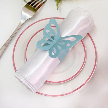Anelli di tovagliolo di farfalla di carta rosa di alta qualità di trasporto-di alta qualità Wedding bridal Shower Favori di nozze-nuovi arrivi