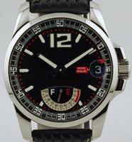 reserve beobachten großhandel-Fabrikverkäufer Neue Miglia Power Reserve Herren automatische mechanische Uhr schwarzes Zifferblatt Gummiband Datum Herren Sport Armbanduhren