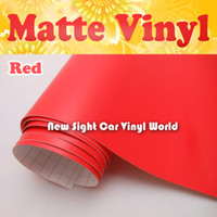 Wholesale Vinyl Wrap Matte Red - Hign Quality Matte Red Vinyl Wrap With Air Free Bubble For Car Stickers Size: 1.52*30m Roll