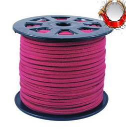 Wholesale Red Velvet Material - Jewelry Materials Accessories Velvet Rope 3mm Rose Red 100 Yards   Volume (003083)