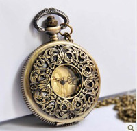 Wholesale Wholesale Vintage Style Pocket Watch - (WA101)free shipping,wholesale,hot sale,10pcs lot necklace fashion style new BRONZE vintage man woman lady Quartz Pocket Watches