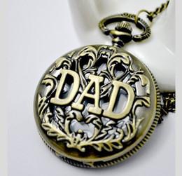 Canada (WA004) montre de poche à quartz en bronze cadeau fête des pères, livraison gratuite, vente chaude, collier avec chaîne Offre