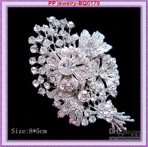 3,2 Zoll Vintage Mode Rhodium Ton Legierung Große Reihe Blume Frauen Brosche Hochzeitsstrauß Schmuck Zubehör Pins Broschen Geschenk Brosche Pins