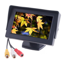 "Wholesale car dvd monitors - 4.3"" Color LCD Car Rearview Monitor with LED blacklight for reverse parking backup Camera DVD VCR"