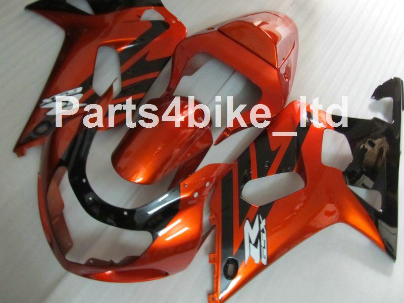 Kit de carénage noir sur mesure pour SUZUKI GSXR 600 750 K1 2001 2002 2003 GSXR600 GSXR750 01 02 03 Kit de carénage de moto