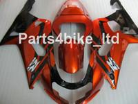 Wholesale Custom Fairings For Motorcycles - Custom Orange black fairing kit for SUZUKI GSXR 600 750 K1 2001 2002 2003 GSXR600 GSXR750 01 02 03 motorcycle fairings kit