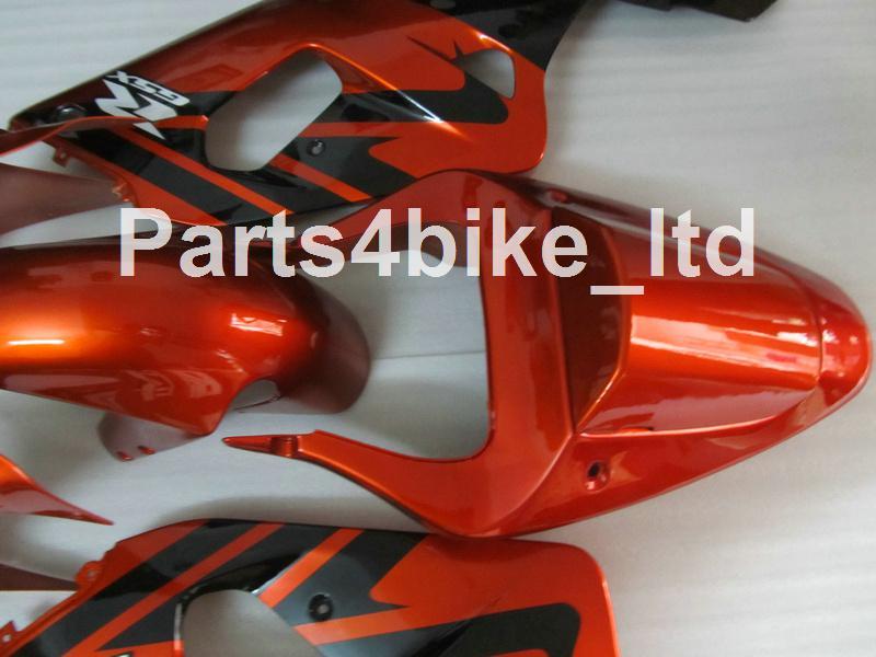 Custom Orange Black Fairing Kit för Suzuki GSXR 600 750 K1 2001 2003 2003 GSXR600 GSXR750 01 02 03 Motorcykel Fairings Kit