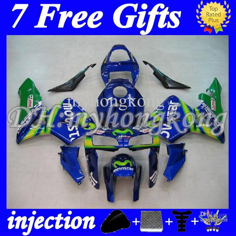 100% новый для инъекций F5 Honda CBR600 RR 05-06 Movistar Blue CBR600F5 CBR 600 600RR CBR600RR Blue Green 430 05 06 2005 2006