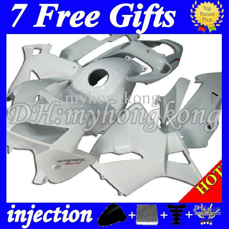 7Gifts Injectie voor Honda CBR600RR 05 06 CBR600 RR F5 CBR 600 600RR All Gloss White 2005 2006 356 Hete CBR600F5 05 06 Cool Fairing Body