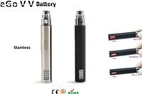 Wholesale Ego Vv Battery V5 - E Cig Ego VV Batteries Colors V5 Battery Variable Voltage 3.2-4.2v 650 900 1100mAh
