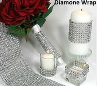 Wholesale Trim For Wedding Cakes - 100yard lot 24 Rows diy Diamond Mesh sparkle Rhinestone Ribbon Crystal Wrap TRIMMING CAKE BANDING For Wedding Decoration Party Decor wa040