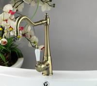 Wholesale Unique Bathroom Sinks - Antique Brass Bathroom Basin Sink Mixer Tap Bamboo Unique Faucet DH-509