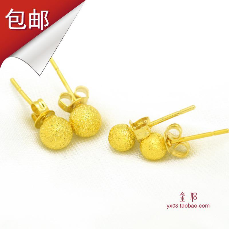 2018 Matte Gold Plated Ball Stud Earrings Ear Jewelry Female ...