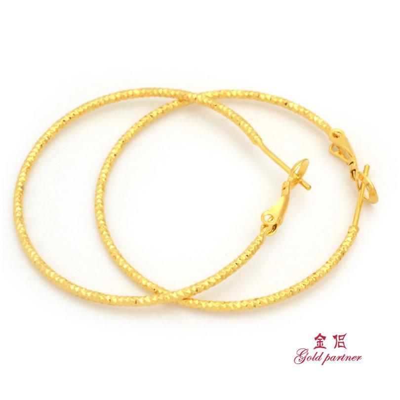 2018 Gold Plated Hoop Earrings Earrings Ear Rings Round End Korean ...
