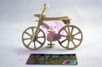 3D Puzzles Fahrrad Holz Puzzle Holzcraft Simulation Puzzle Modell Tasche Puppe Fahrrad Lernspielzeug