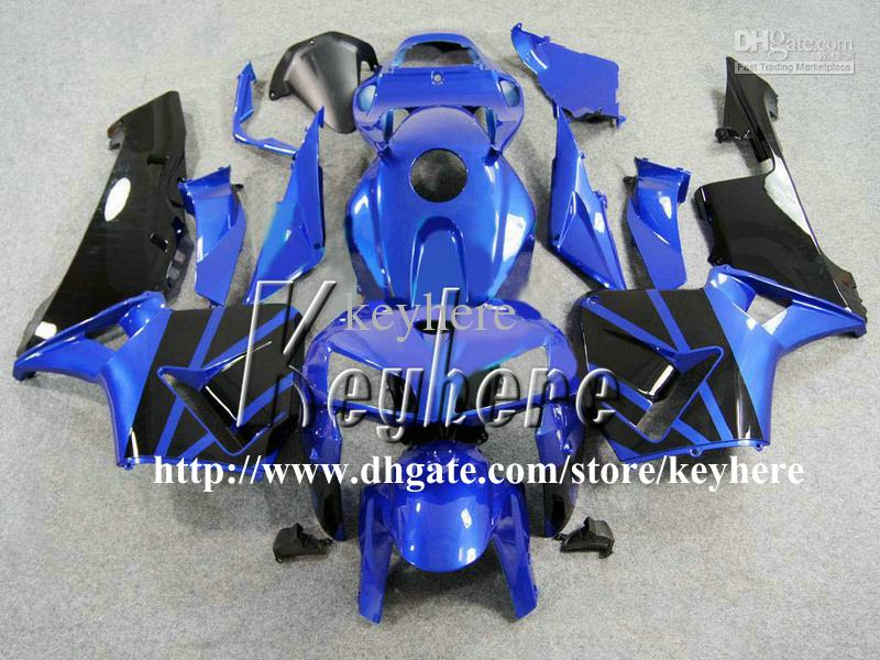 Kit di carenatura iniezione gratuita da 7 regali Honda CBR 600RR 2005 2006 CBR600RR 05 06 F5 CBR600 RR carents G1K Blue Black Moto Motorcycle Body Work