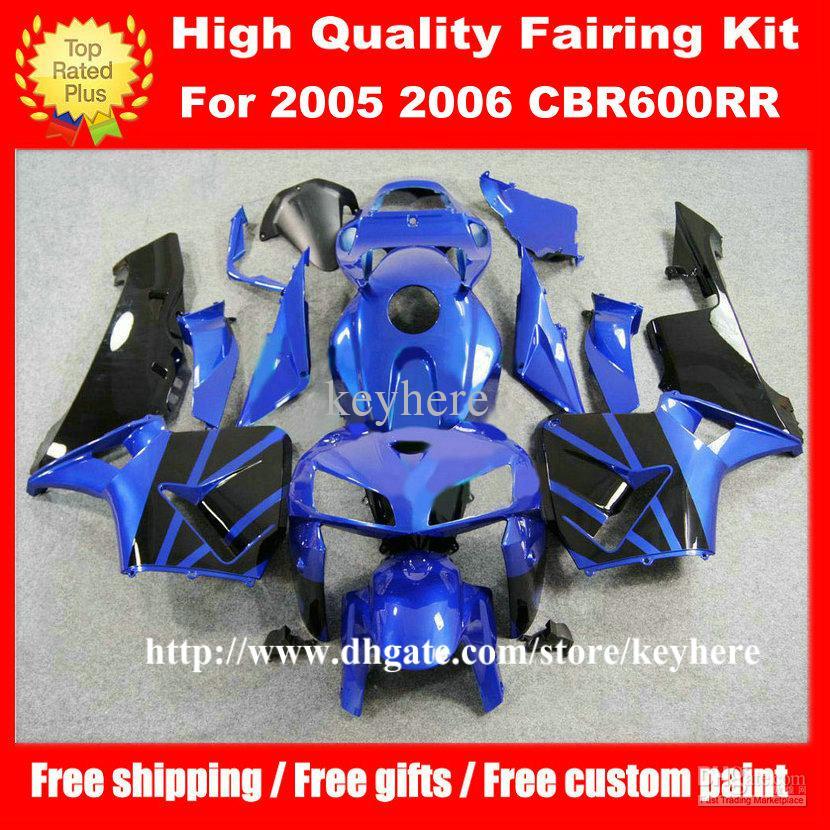 Бесплатно 7 подарков инъекции обтекатель комплект для Honda CBR 600RR 2005 2006 CBR600RR 05 06 F5 CBR600 RR обтекатели G1k синий черный мотоцикл кузов работы