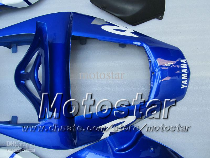 7 carenature carrozzeria regali 2000 Yamaha YZF R1 YZFR1 00 01 YZF-R1 YZF1000 kit carenatura completa bianco blu lucido MM12