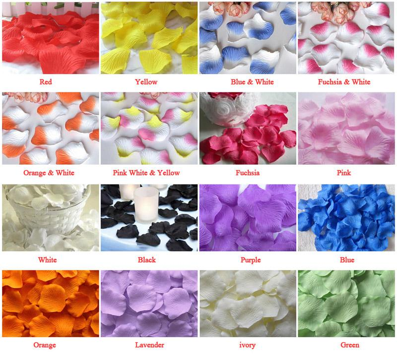50 Bags Silk Rose Petals Wedding Favour Party Flower