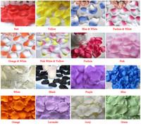 Wholesale Pink Favour Bags - 5000 Pcs (50 Bags) Silk Rose Petals Wedding Favour Party Flower Decoration Mix colors or Choose Color