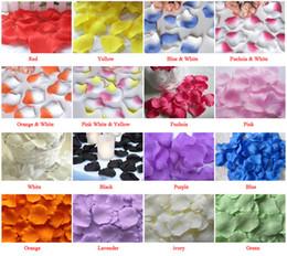 weiße blumen-mittelstücke für hochzeiten Rabatt 5000 PCS (50 Beutel) Silk Rosen-Blumenblatt-Hochzeits-Bevorzugungs-Party-Blumendekorations-Mischungsfarben oder wählen Farbe