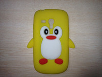 Wholesale Galaxy S3 Penguin Case - 3D Penguin Cute Silicone Case For Samsung Galaxy S3 Mini i8190 cartoon back cases Free Shipping 1pcs CN psot with tracking number