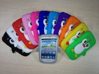 Wholesale Galaxy S3 Penguin Case - 2013 New arrive 100pcs 3D Penguin Pattern Cute Cartoon Soft Silicone Rubber Case for Samsung Galaxy SIII S3 mini i8190 Free Shipping