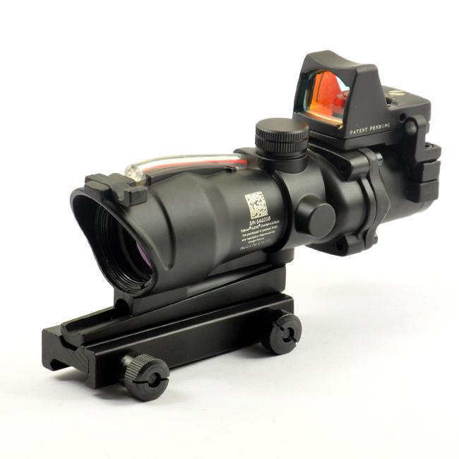 ACOG Stlye TA31 4x32 Fiber Bron Rood Verlichte scope met RMR Micro Red Dot Sight