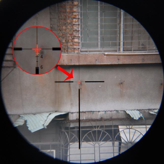 Lunette ACOG Stlye TA31 4X32 à source de lumière illuminée en rouge avec viseur RMR Micro Red Dot