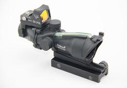 Wholesale acog dot sight - ACOG Stlye TA31 4X32 Fiber Source Green Illuminated Scope with RMR Micro Red Dot Sight