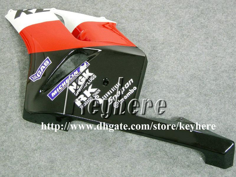 Kit de carénage d'injection gratuit 7 cadeaux pour Honda CBR1000 RR 2004 2005 CBR1000RR 04 05 carénage CBR 1000RR carène de moto rouge orange G7l REPSOL