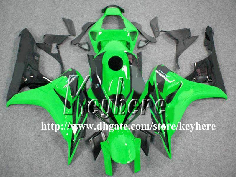 Kit de carenado de inyección gratuito 7 regalos para Honda CBR1000 RR 2006 2007 CBR1000RR 06 07 CBR 1000RR carenados g1l nuevo negro verde piezas de la motocicleta