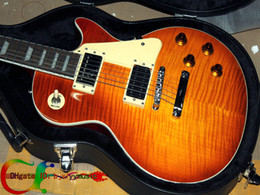 Wholesale With hard case Custom shop Jimmy Page signature Sunburst Electric Guitar WITH CASE guitars from china