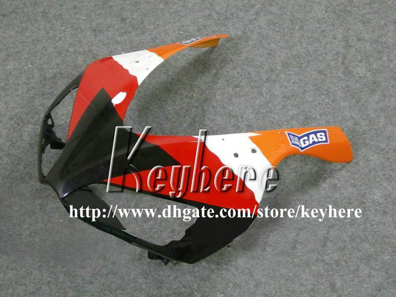 Kit de carénage d'injection gratuit 7 cadeaux pour Honda CBR1000RR 2006 2007 CBR 1000RR 06 07 CBR 1000 carénages RR pièces de moto orange g9k REPSOL