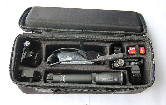 Designador láser verde de ND3 de larga distancia con soporte de alcance ajustable