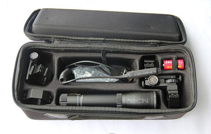 ND3 lange afstand groene laserontwerpper met verstelbare scope mount