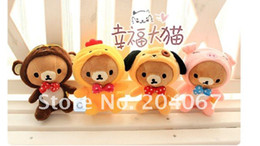 Wholesale Teddy Bears Small Size - SAN-X RILAKKUMA plush doll small size 12cm size 12pcs set free shipping