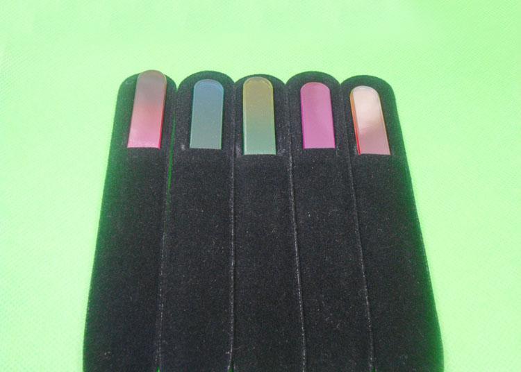 100X CRISTALLO lima unghie con Companion NERO MANICA 5 1/2