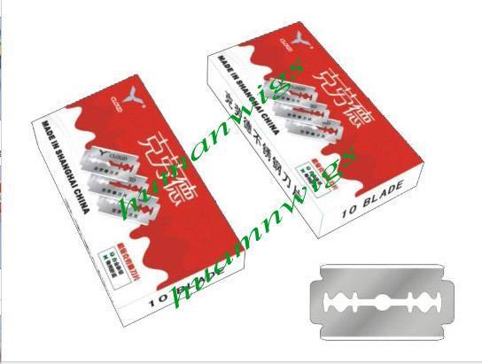 Mais barato Nuvem Por Pacote Japão 6CR13 Aço Inoxidável Double Edge Lâmina de Barbear Lâmina de Barbear, Fácil de Usar Frete Grátis